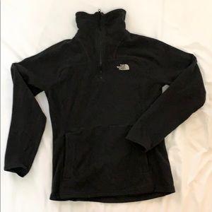 North Face Half Zip Black Fleece Sweatshirt XS